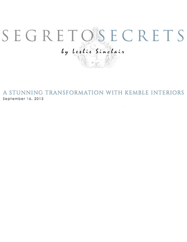 Segreto Secrets September 16, 2013