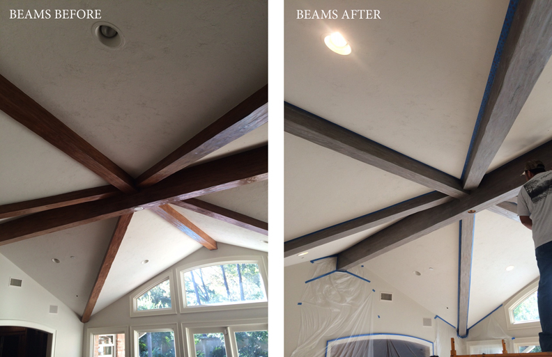 Here's a before and after shot of my client's ceiling.  So much better after!