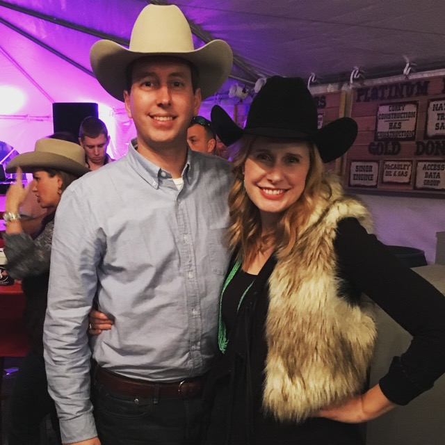 My handsome husband, Clint, and I at Rodeo Cook-off last night.
