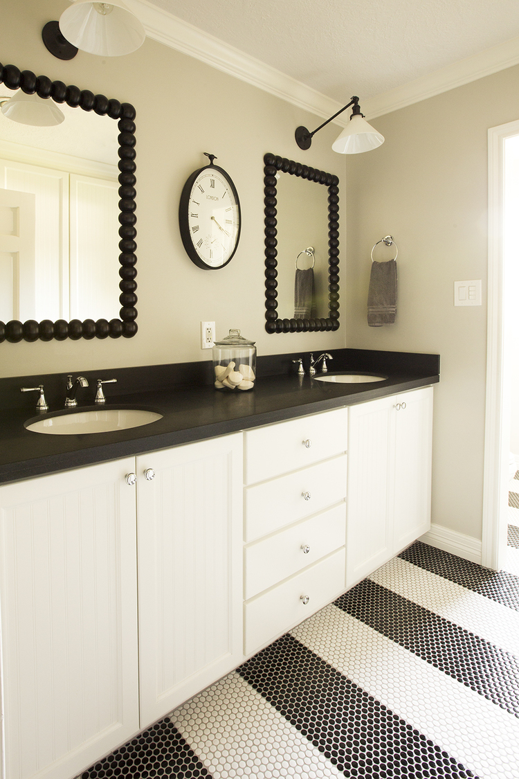 A little black and white bathroom I designed