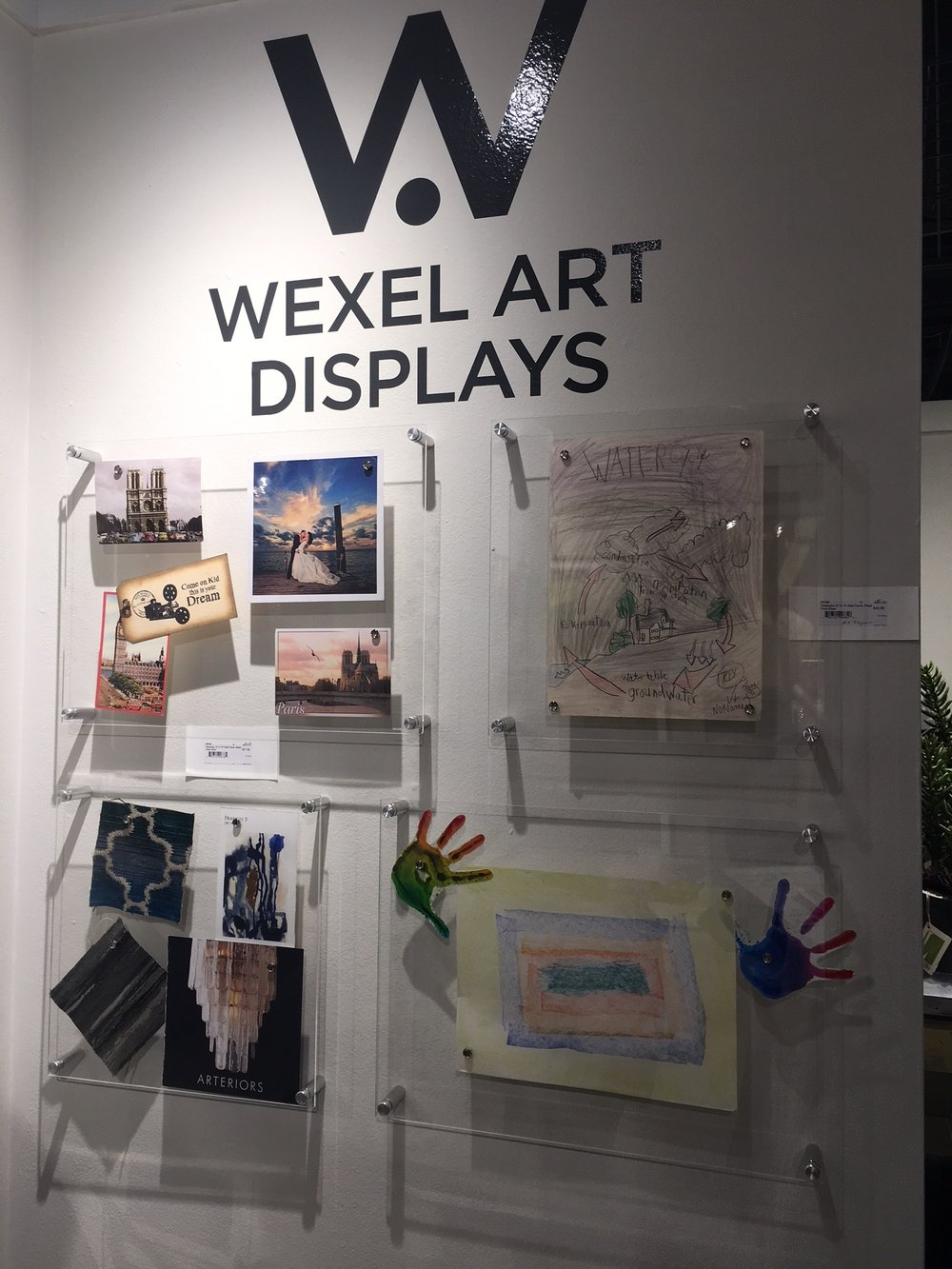 One of my favorite accessories were these magnetic acrylic displays by  Wexel Art . What a great idea for displaying kids art or framing photographs and I love how simple they are. I'd love to have these in my office for client inspiration boards!
