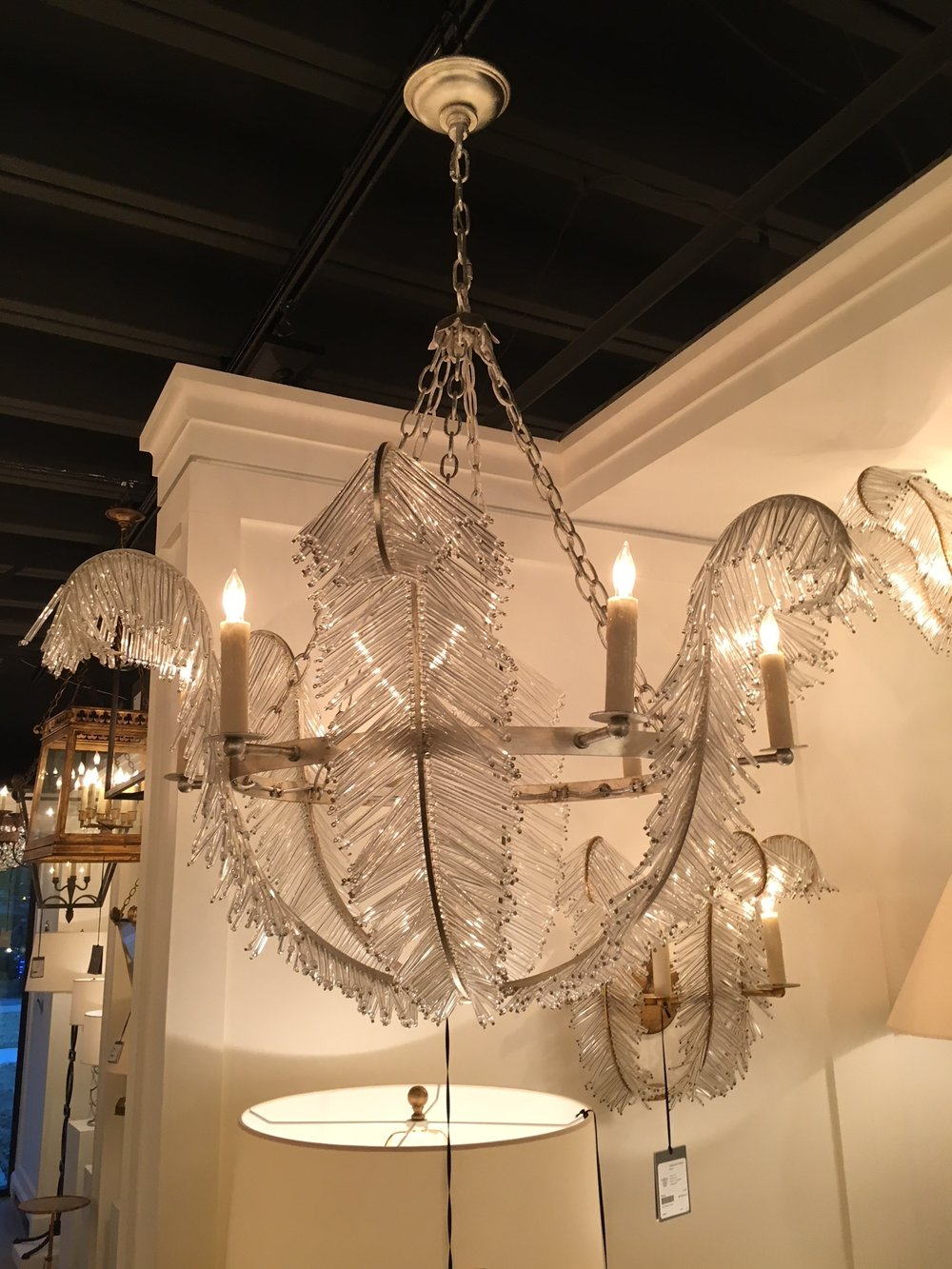 Was happy to stop by one of my favorite lighting companies,  Visual Comfort & Co.  They carry some really unique pieces from a variety of designers and brands. They're my go-to lighting company.