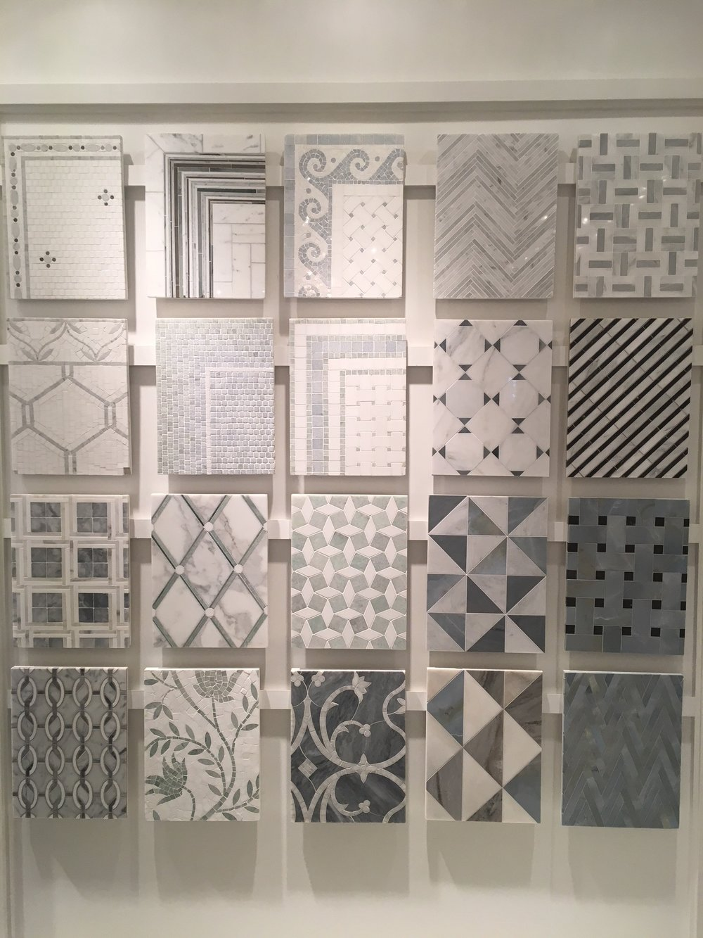 Looked at their great tile collection too. Love this display!
