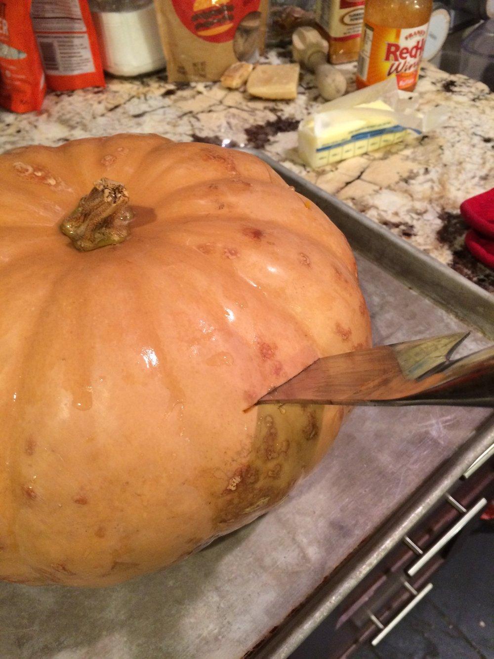 Stab the big pumpkin