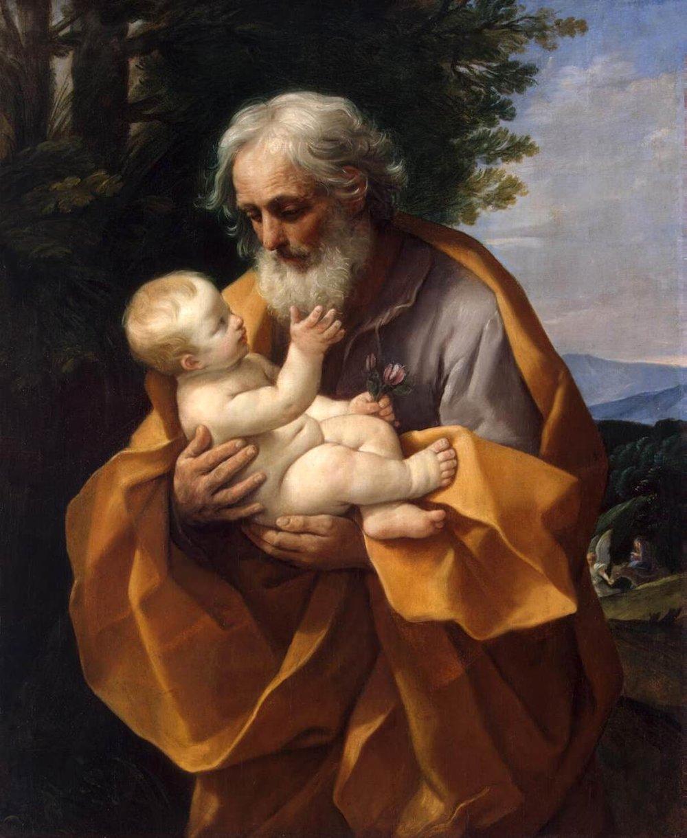 St. Joseph and Jesus by Guido Reni
