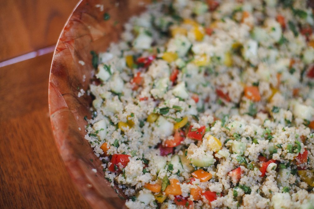 The BEST quinoa salad ever!