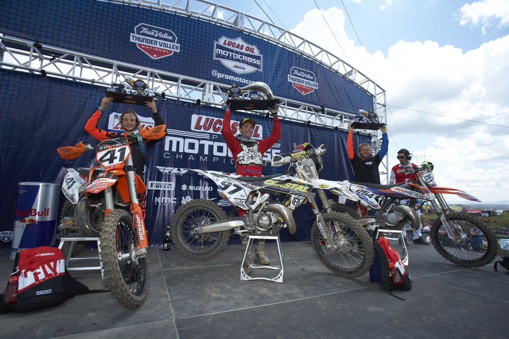 Podium at Thunder Valley
