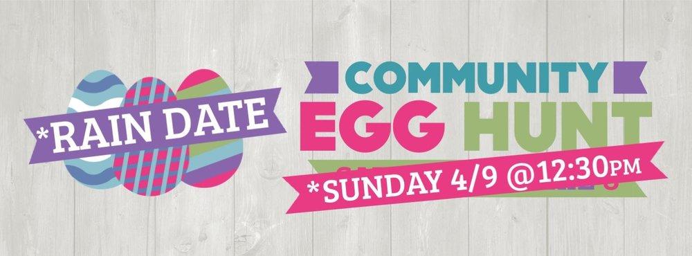 因为下雨的关系,我们把活动改在明天(4/9)中午12:30举行。歡迎您帶孩子和家人一起來參加。我們仍然会有小動物動物園,跳跳屋,兒童手工,热狗,家庭照相處和小朋友最愛的尋蛋活動。寻蛋活动将于12:30准时开始。