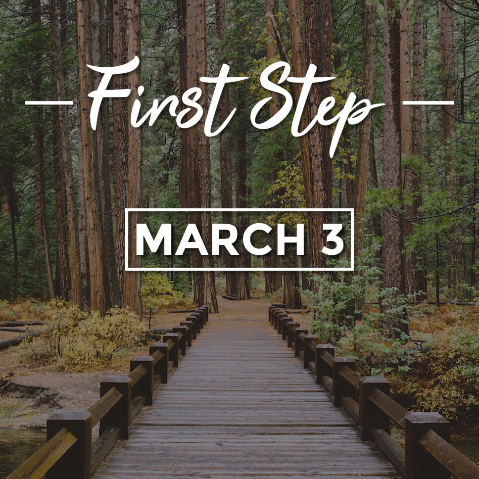 First Step - March 3