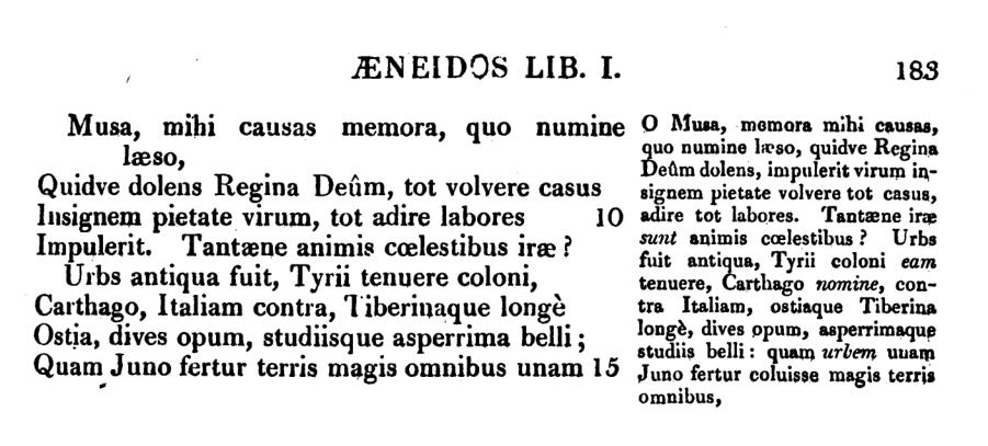 Stirling -  Omnia opera Virgiliana cum ordine (qui dicitur),versione Anglice, notis Anglicis.
