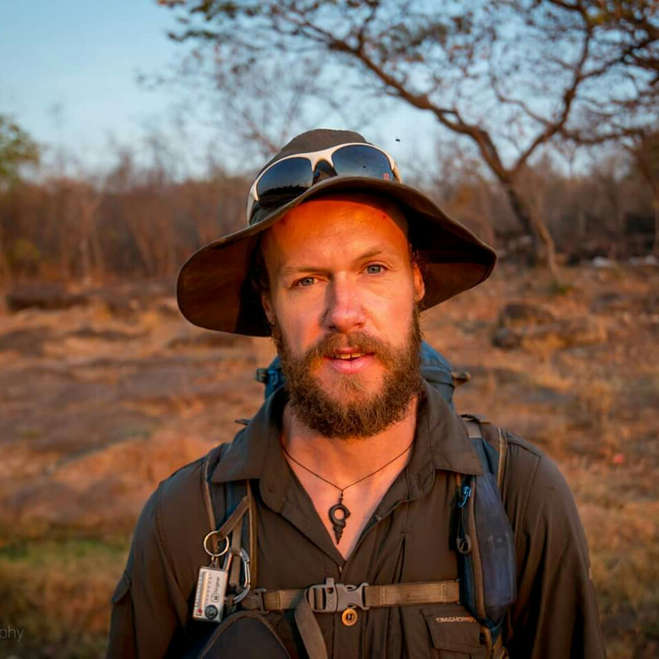 The explorer beard coming on nicely after 3 months along the Zambezi. Credit: Alex Frood