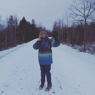 David exploring Canada's snowy parks