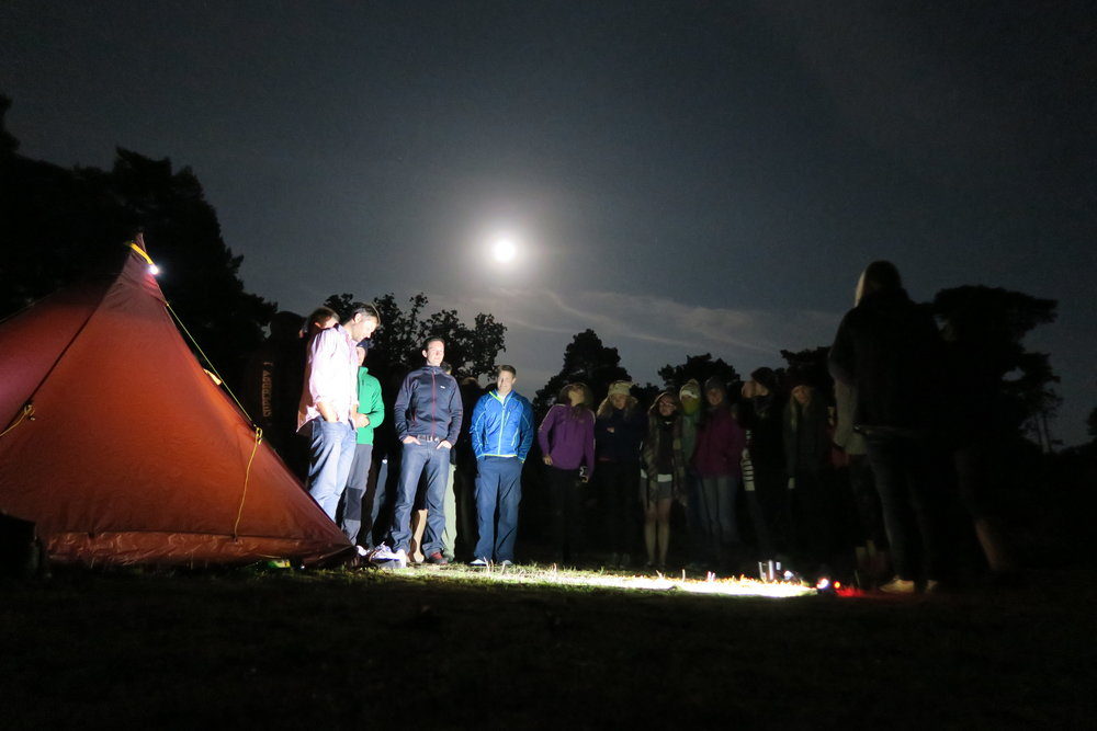 CHAPTER THREE - On the night of the Blue Moon on 31st July 2015 a group of this community of one-night campers which had by now developed the cultish nickname of 'the YesTribe' were in Oxshott Woods just south of London. A new face turned up, this bloke in a checkered shirt riding a bicycle. 'I've just cycled from my job at Heathrow,' he said, 'I had to see what this was all about.' And that was when Dave met Chris.