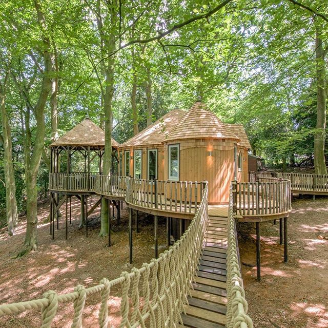 CedarHollow is a gorgeous low-Level treehouse not far from Oxford in the UK. You can rent it out for 2-5 friends, and it comes complete with swimming pool, tennis court and all the surrounding forest you could wish for. It's delicious!   @cedarhollowoxford
