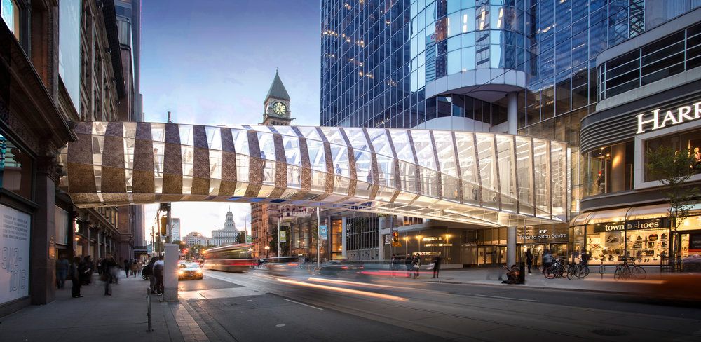 Toronto Eaton Centre Pedestrian Bridge with WilkinsonEyre