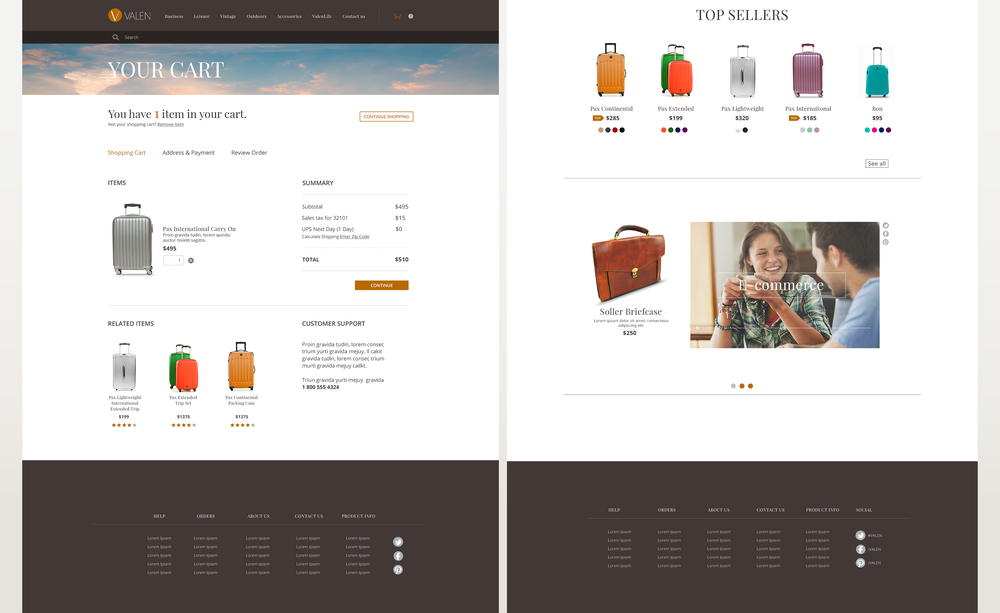 Design of Checkout Section
