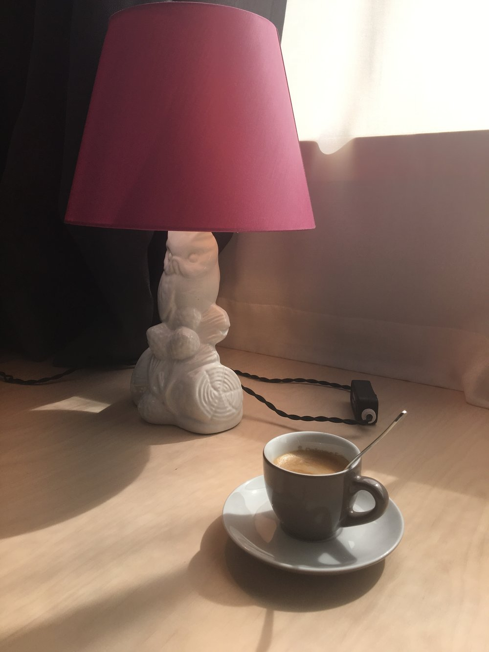 Coffee in the hotel room
