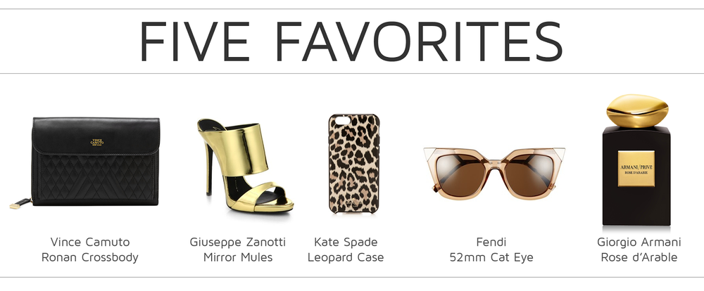 Style Fragment Five Favorites, Vince Camuto, Fendi, Kate Spade, Fendi, and Giorgio Armani