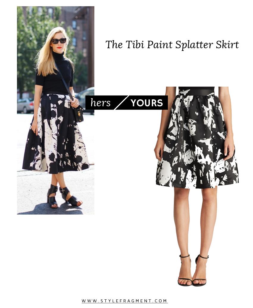 Style Fragment The Tibi Paint Splatter Skirt Hers Yours