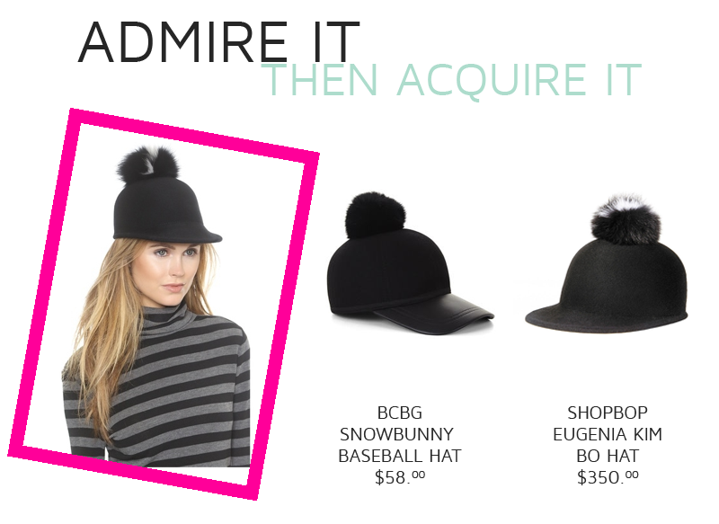 BCBG Snowbunny Baseball Hat vs. Shopbop Eugenia Kim Bo Hat