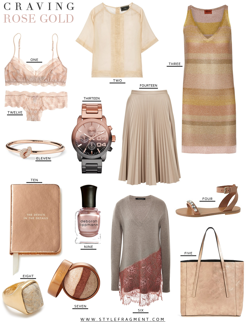 Style Fragment Craving Everything Coming Up Rose Gold, Net-A-Porter, J.Crew, Piperlime
