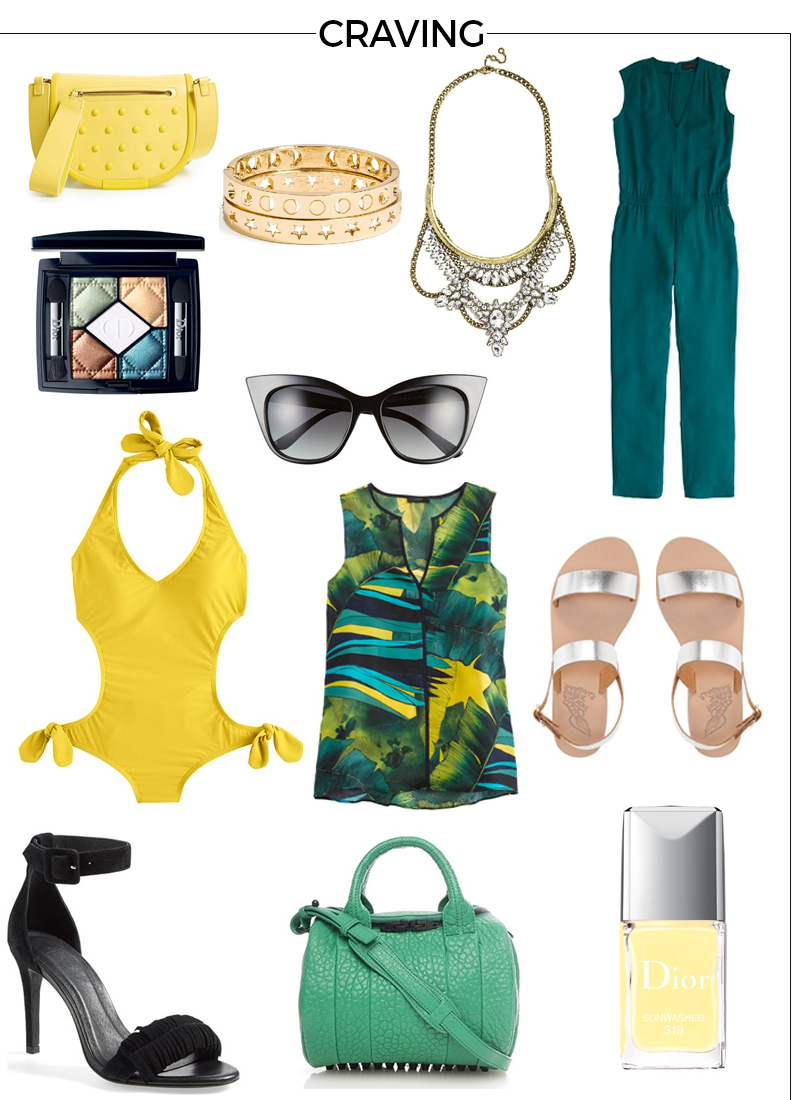 Style Fragment Craving Tropical, J.Crew, Jumpsuit, Nordstrom, BaubleBar