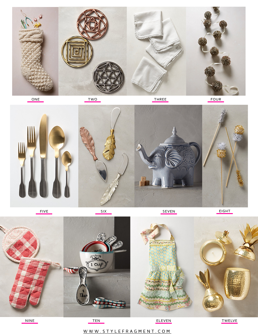 Style Fragment Anthropologie Gift Guide, Hostess