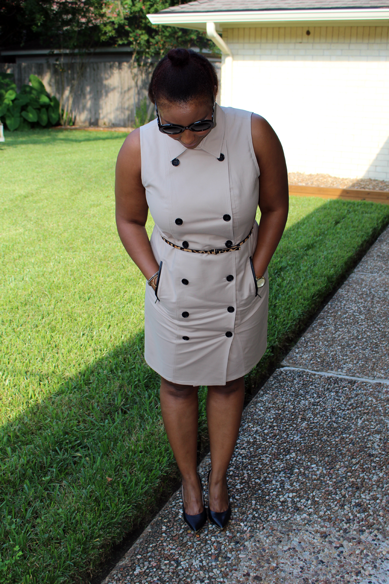 Style Fragment Sleeveless Trench Dress