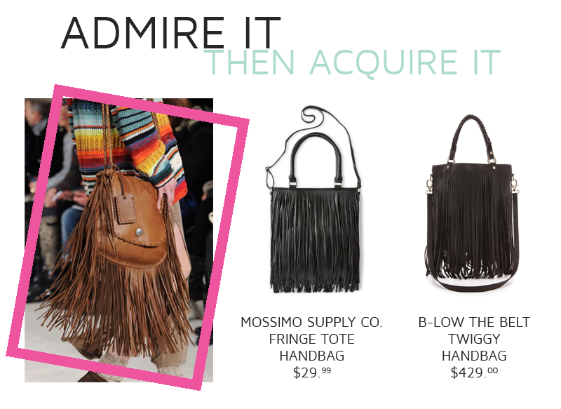 Style Fragment | Fringe Bag | High vs. Low