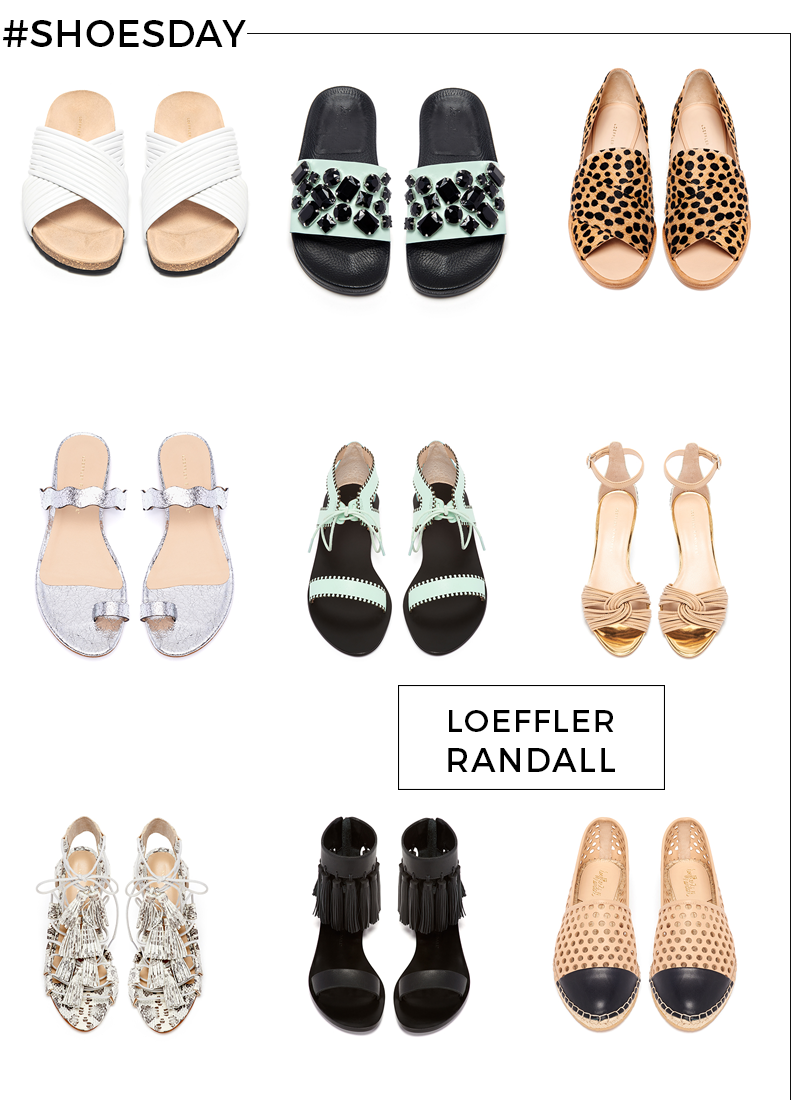Style Fragment, Loeffler Randall, wedges, flats, espadrilles, sandals, heels, snakeskin, anaconda, flats, metallic, gem, tassels