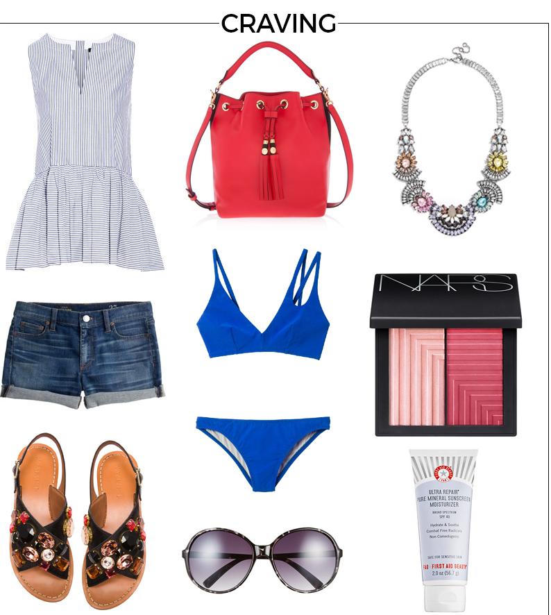 Style Fragment Craving Henri Bendel Bucket bag, Bikini, Marni, slides, BaubleBar, Shopbop, NARS,