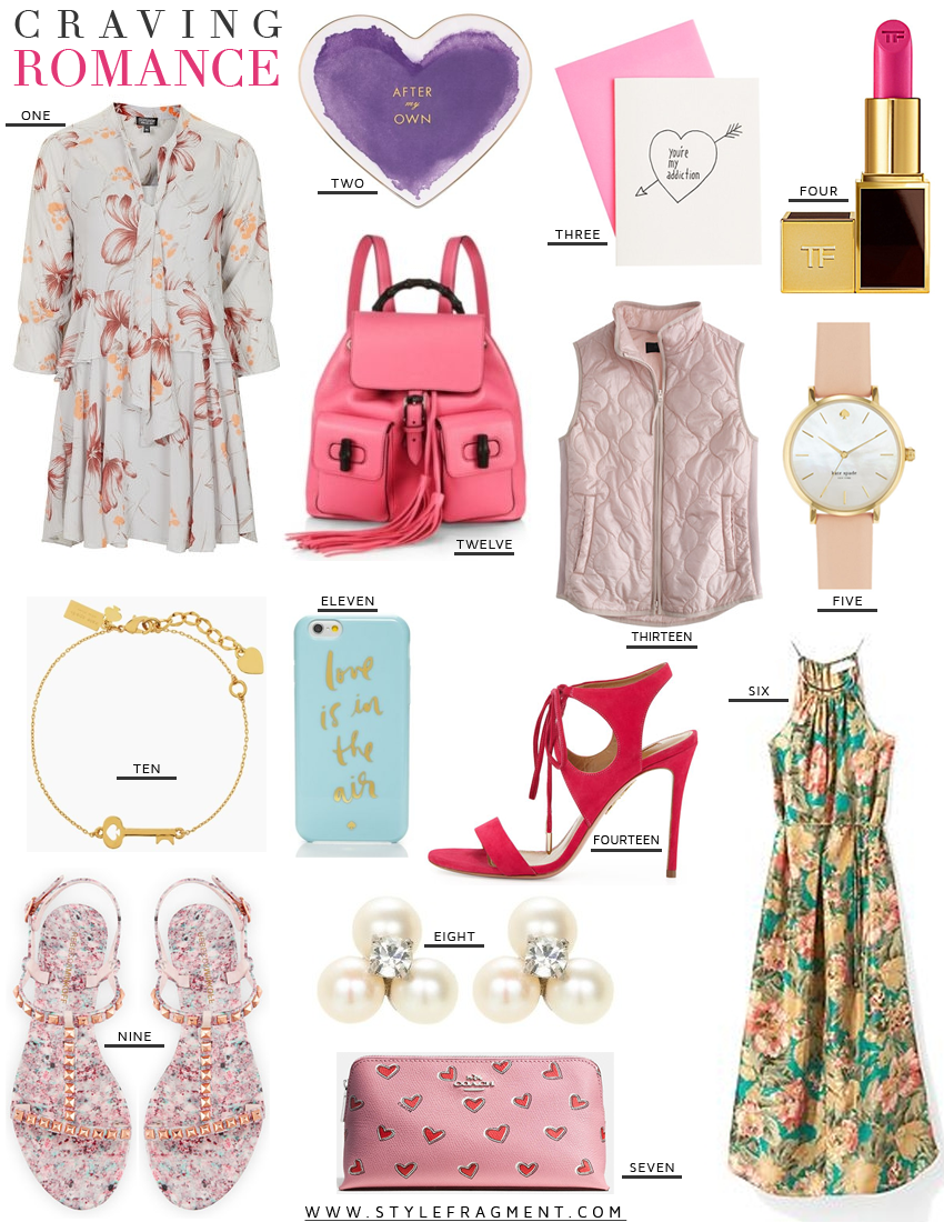 Style Fragment, Craving, Romance, Valentines Day, Topshop, Net-a-porter, J.Crew, Nordstrom, Floral, Pink, Kate Spade, Rebecca Minkoff