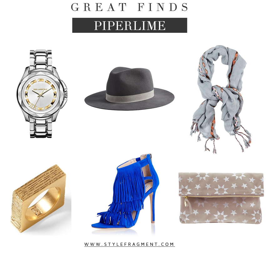 Style Fragment Great Finds Piperlime, Fashion, Jewelry, Scarves, Hats, Heels