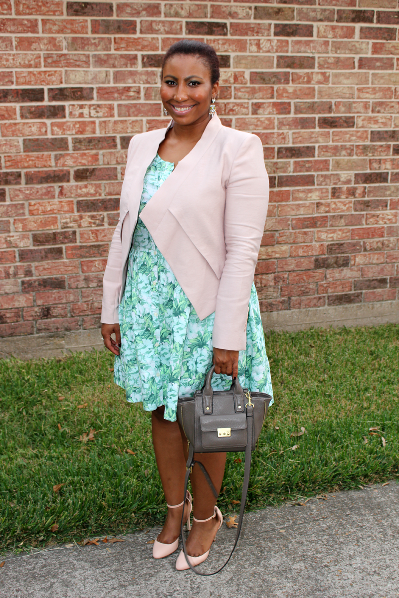 Style Fragment SPRING IN FALL  Gap dress, BCBG jacket, J.Crew Pumps