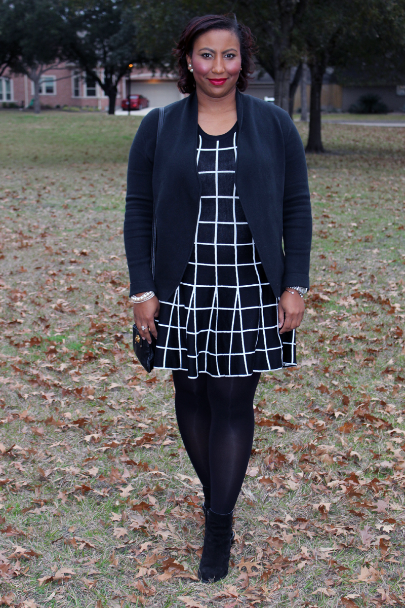 Style Fragment Windowpane Dress JOA Nordstom Cardigan