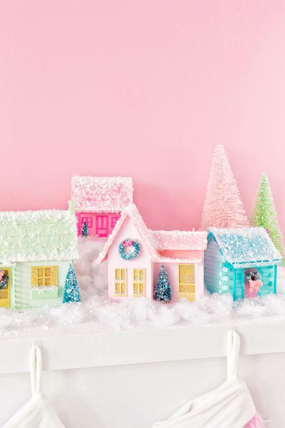 DIY Colorful Christmas Village.jpg