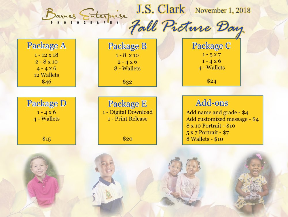 JS Clark Fall Picture Day, November 1