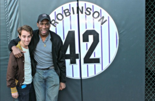 Jackie and Me Cast visit Coors Field.