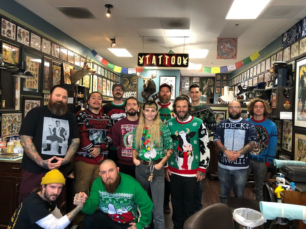 Old Rose Tattoo Toy Drive staff and crew!