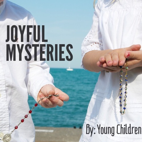 Joyful mysteries said by young children.  Itunes   Link