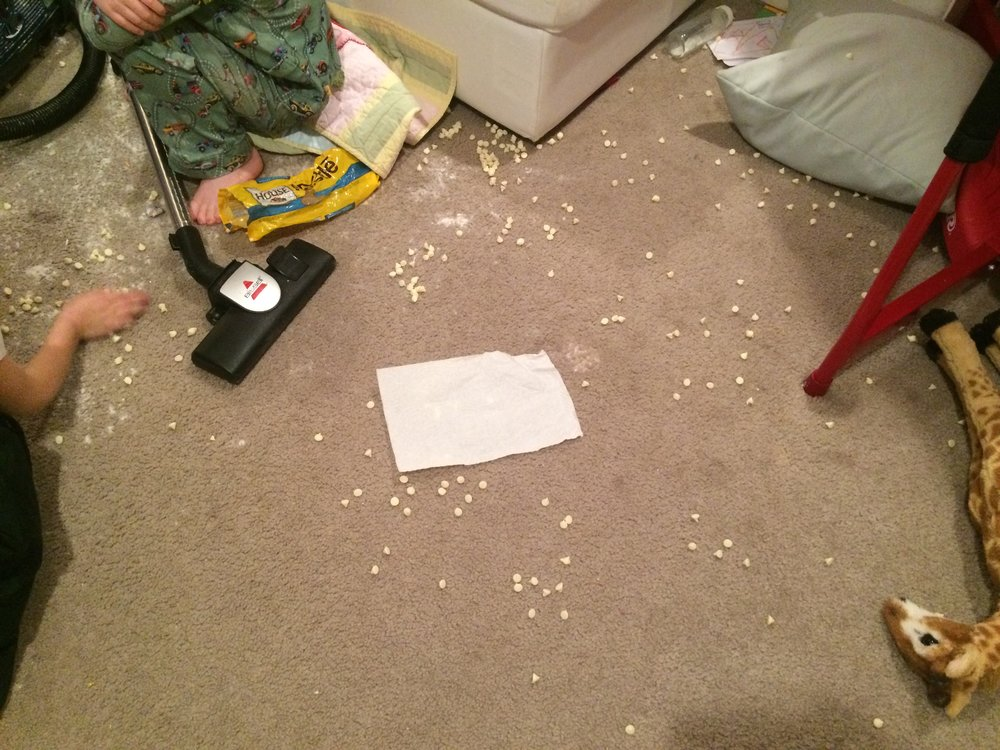 sometimes stolen food turns into confetti.