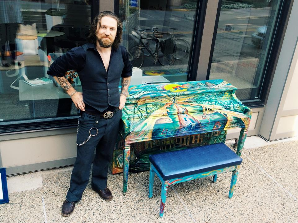 Abram Sudan, the artist who submitted his artwork by combining it with the public piano installation, definitely added a great visual element to the instrument