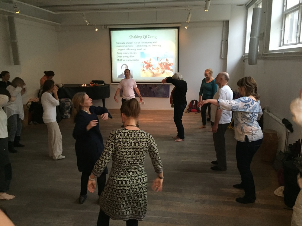 Teaching Qi Gong in Stockholm, Sweden.