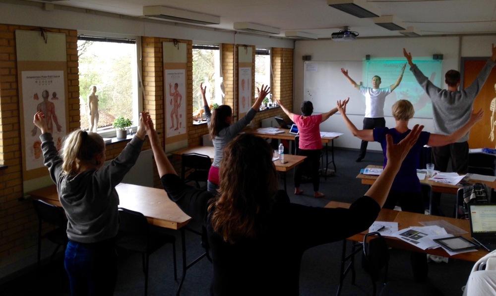 CT teaching shamanic Qi Gong in Aarhus, Denmark 2016