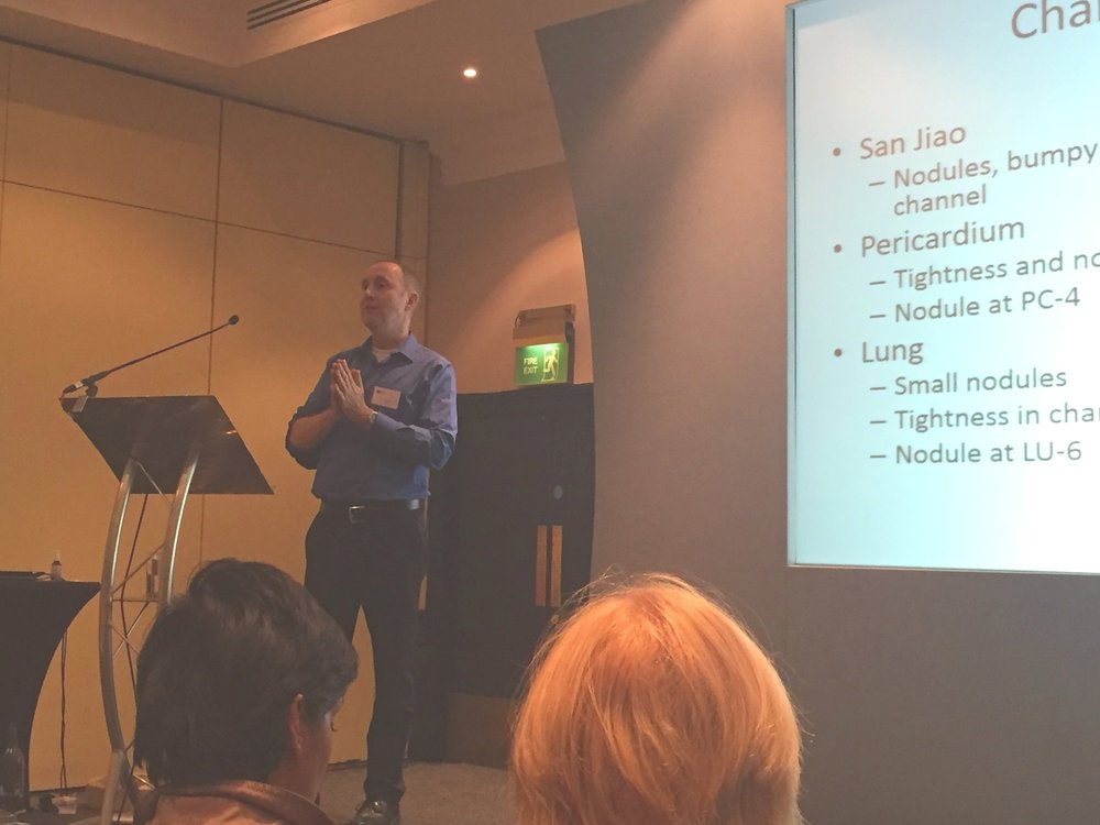 Presenting at the British Acupuncture and Oriental Medicine Conference 2018. The treatment of emotional trauma with Chinese medicine.