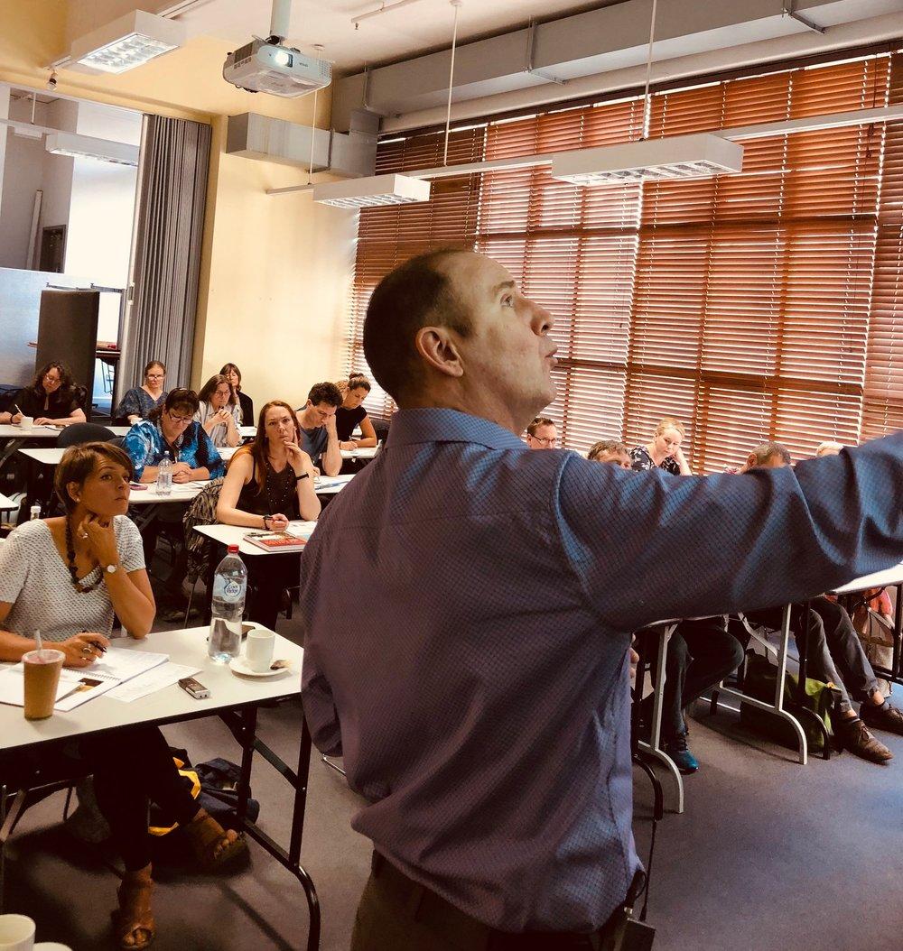 CT teaching a three-day seminar in Melbourne Australia for China Books, February 2019.