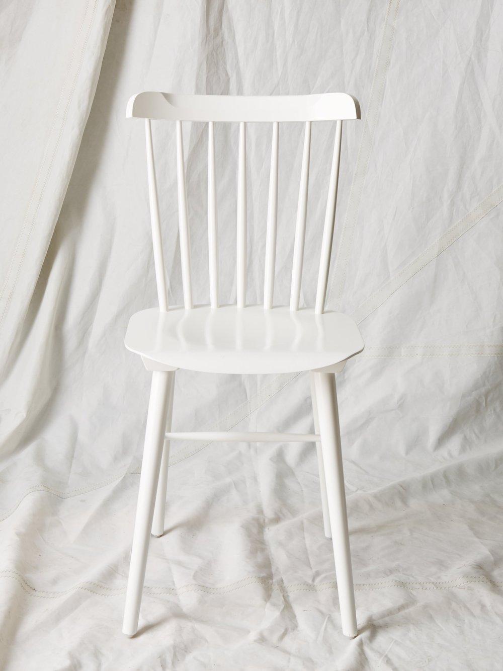 """CH004 White DWR Salt chair 34"""" H x 15"""" W x 16"""" D $75/week"""