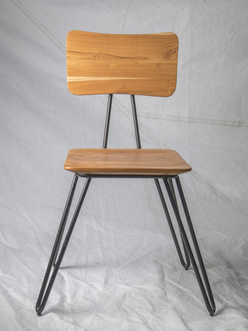 "CH013 Sustainable wood chair 34"" H x 16"" W x 20"" D $125/week Set of 1"