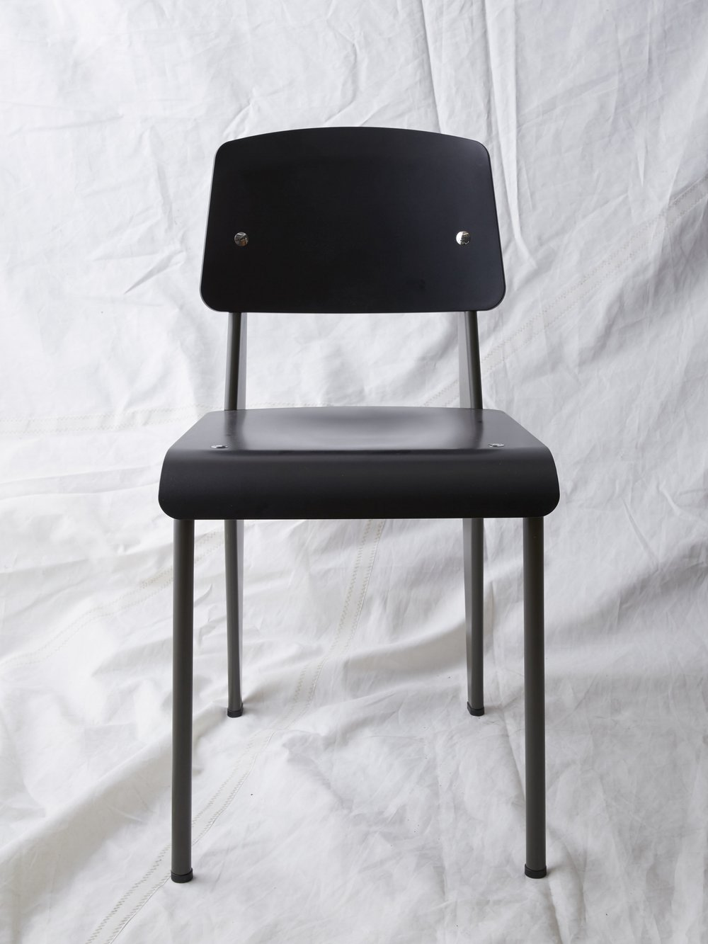 "CH026 Prouvé SP chair black/grey 32"" H x 16"" W x 19"" D $200/week Set of 1"