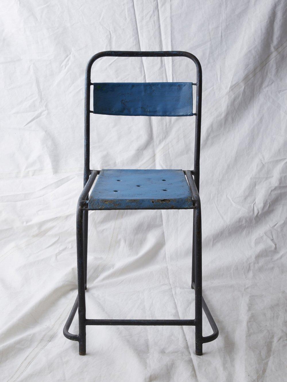 "CH036 Blue steel with a bit of rust 33"" H x 13"" W x 20"" D $75/week"